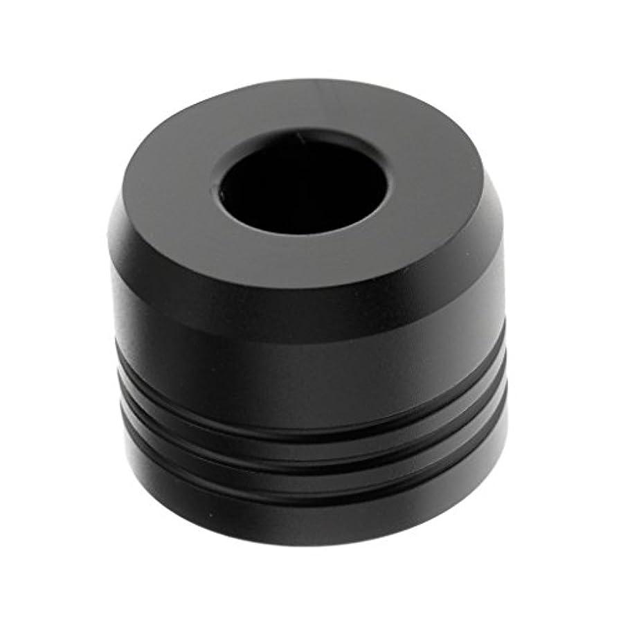 息子オーストラリア人わずかにカミソリスタンド スタンド シェービング カミソリホルダー ベース サポート 調節可 乾燥 2色選べ - ブラック