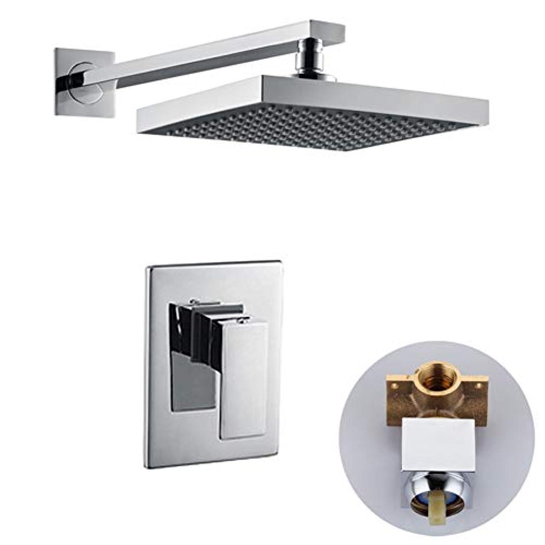 誘うどちらも準拠シャワーセット、シャワーシステムシングル機能インウォール隠しシャワーヘッド