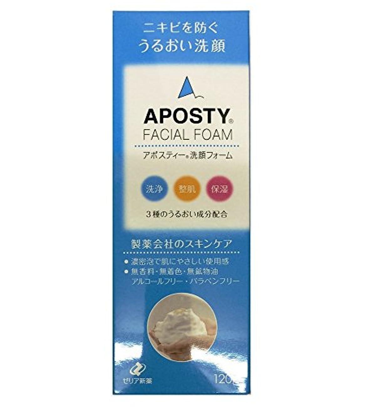 倍率新しい意味アレンジゼリア新薬工業 アポスティー 洗顔フォーム 120g