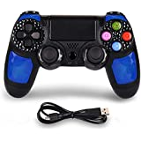 Controller for PS4, Wireless Game Controller for PS4/Pro/Slim/PC, Wireless controller Gamepad with Led Touch Pad, Six-axis Du