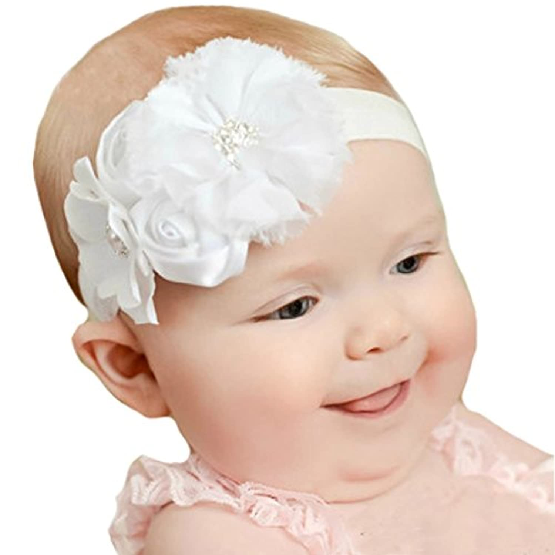 miugle新生児ベビーガールズヘッドバンドwith Bows