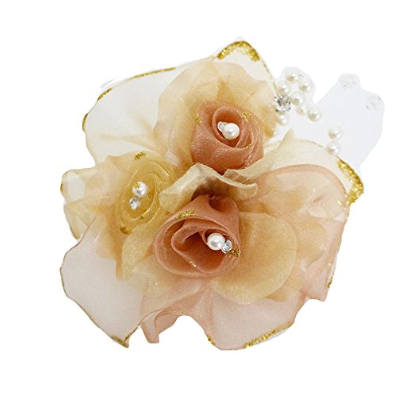 コサージュ 入学式 フォーマル コサージュ 入園式 花 オーガンジー コサージュ ばら 結婚式 fh8008gd
