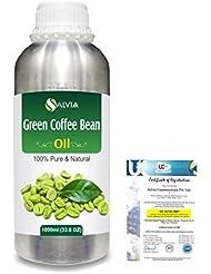 Green Coffee Bean (Coffer) arabica)100% Natural Pure Carrier Oil 1000ml/33.8fl.oz.