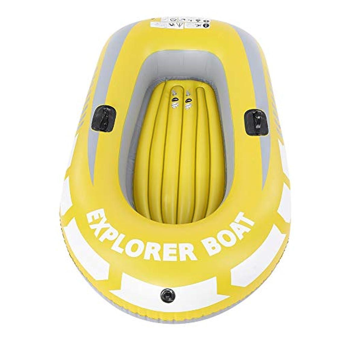結婚褒賞効率的にTOPINCN インフレータブルボート エアー 空気入れ カヤック カヌー PVC材料 軽量 気密性 耐摩耗性 膨張収縮容易 2人用 釣り/漂流/ダイビング