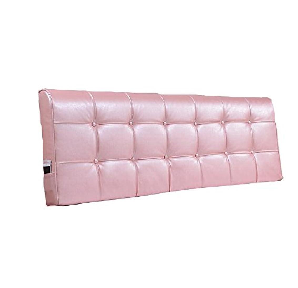 電報ジョセフバンクス入場ベッドサイドの大きな背もたれ/大枕とファッションソリッドカラーダブルベッドヘッドレスト洋服レザーベッドサイドクッションピンクとパープル (色 : Light Pink, サイズ さいず : 180 * 58 * 10cm)