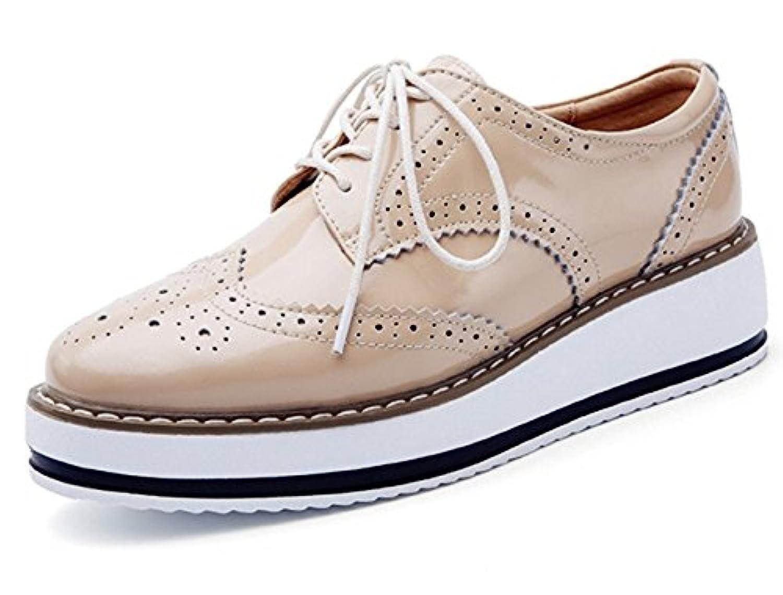 (ダダウン)DADAWEN  オックスフォードシューズ レディース  厚底靴 美脚 おじ靴 光沢 エナメル 歩くやすい 疲れにくい 通勤靴
