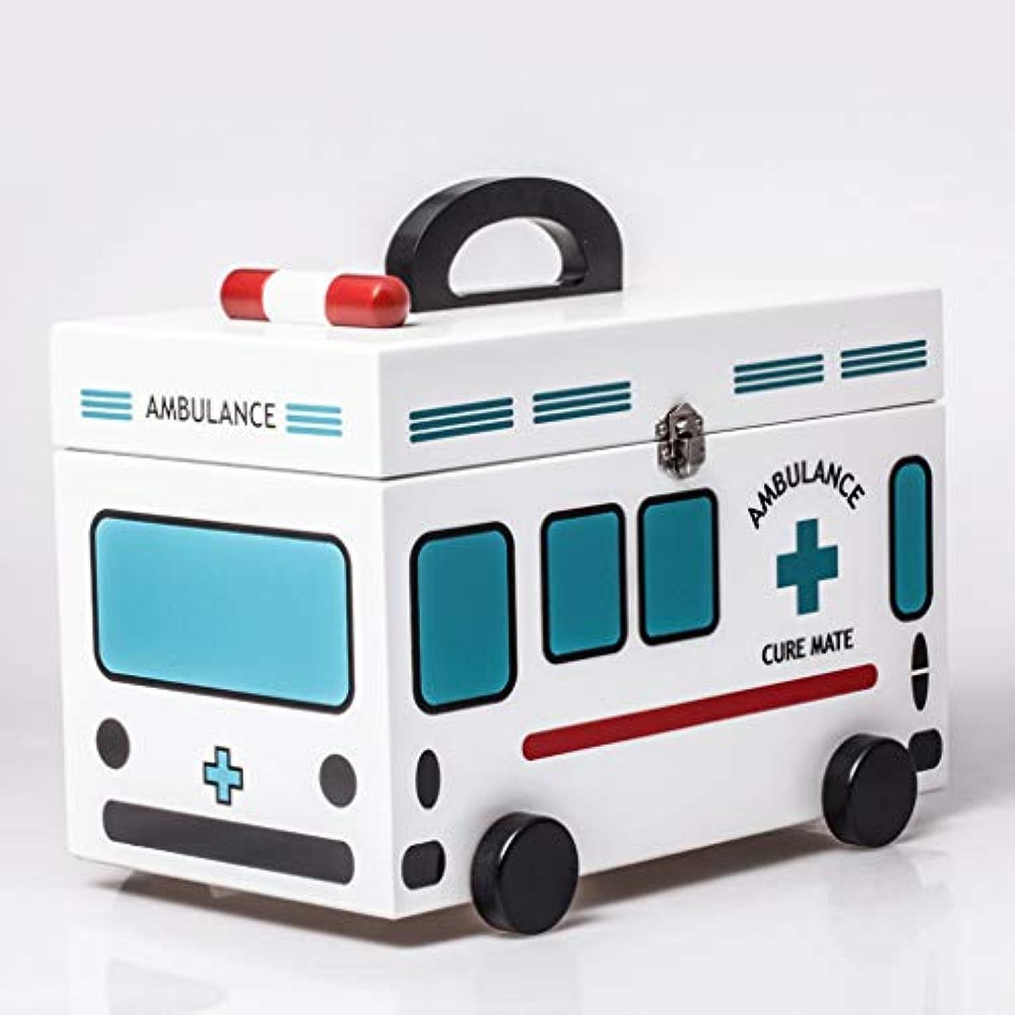 建設非公式睡眠CQ 家庭医学ボックスベビーチャイルドケアストレージボックス応急処置ボックスブルーメディカルボックスファミリー小さな医学ボックス木製