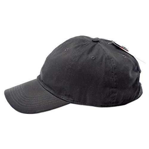 (ニューハッタン) NEWHATTAN CAP キャップ ベースボールキャップ 帽子 無地 カーブキャップ (FREE, BLACK) [並行輸入品]