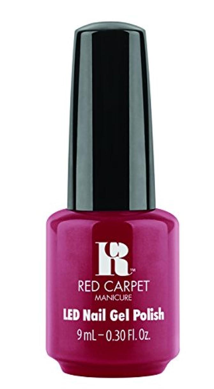 美人直感スリルRed Carpet Manicure - LED Nail Gel Polish - Runway Red - 0.3oz / 9ml