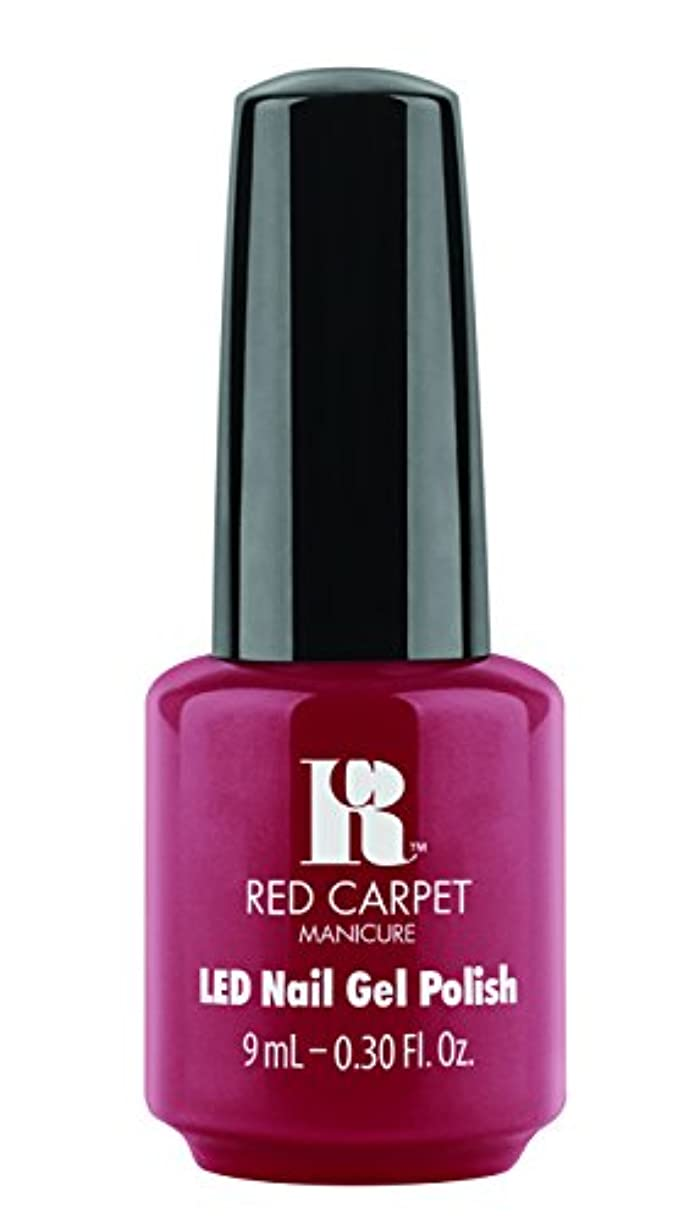 発明発行ゲートRed Carpet Manicure - LED Nail Gel Polish - Runway Red - 0.3oz / 9ml