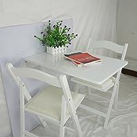 折りたたみ可能なソリッドウッドのダイニングテーブル70 * 45センチメートルの壁のテーブルウッディー壁掛けデスクコンピュータデスクカラー ( 色 : 白 )