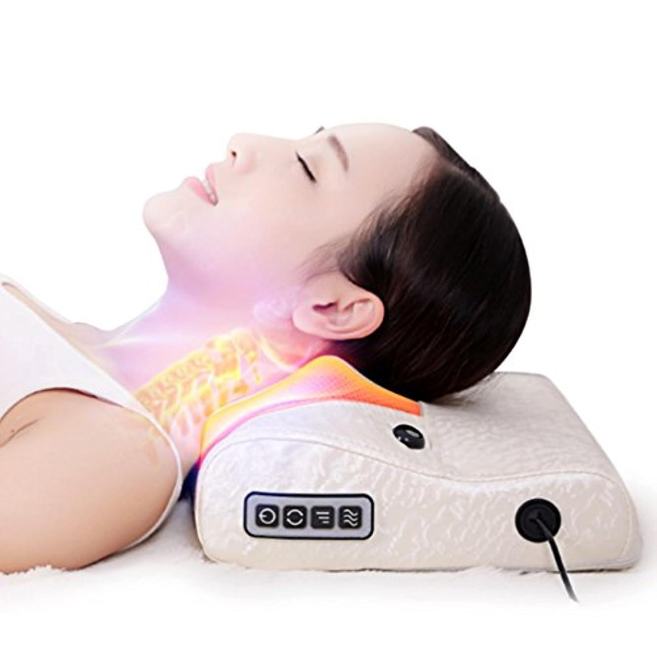 宙返りストラップ絶え間ない【LeaTherBack】家庭用電気マッサージ頚椎マッサージャーこね枕首肩多機能保健介護頚枕 マッサージイ