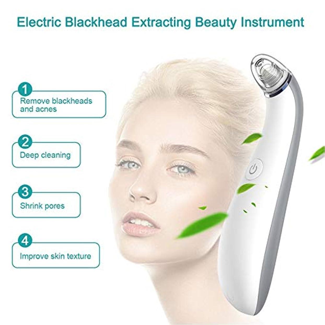 クローゼット乳白色クライストチャーチ気孔の真空の深くきれいな、皮膚健康のための電気顔の安定した吸引のスキンケア用具4取り替え可能な吸引の頭部USB再充電可能