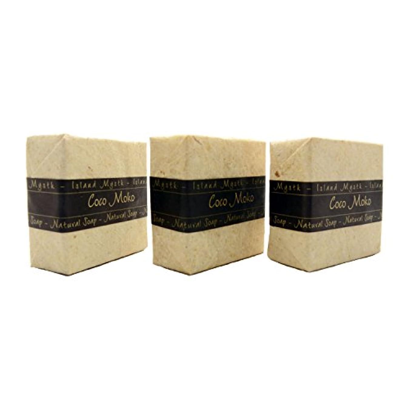 信念半径肥料アイランドミスティック ココモコ 3個セット 115g×3 ココナッツ石鹸 バリ島 Island Mystk 天然素材100% 無添加 オーガニック