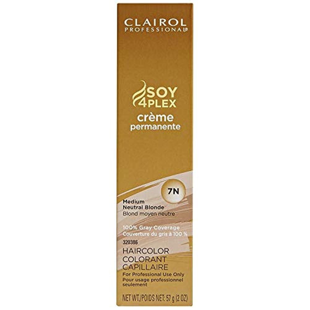 ユーモラス表示汚染されたClairol Professional - SOY4Plex - Creme Permanente - Medium Neutral Blonde 7N - 2 oz / 57g