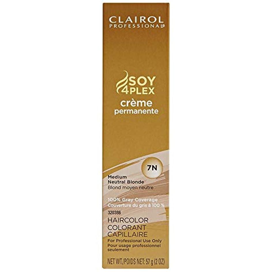 開拓者リズム登るClairol Professional - SOY4Plex - Creme Permanente - Medium Neutral Blonde 7N - 2 oz / 57g