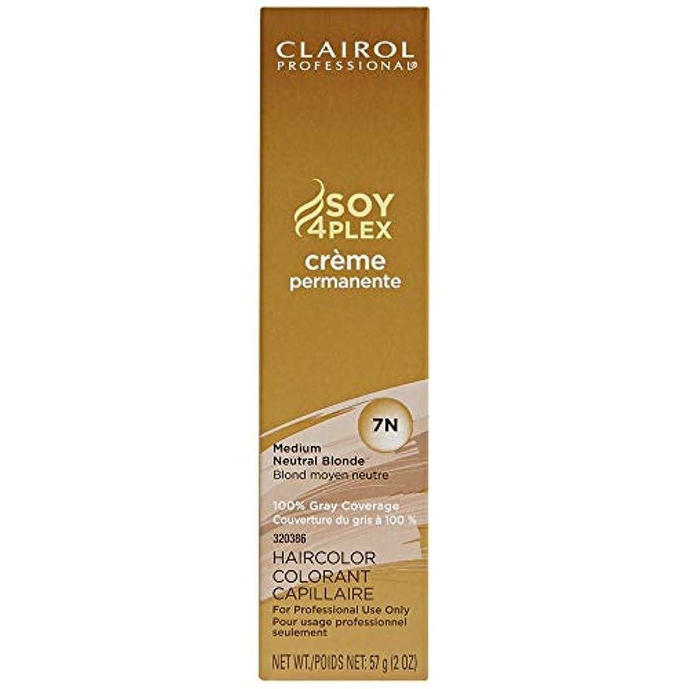 マークされた休戦投獄Clairol Professional - SOY4Plex - Creme Permanente - Medium Neutral Blonde 7N - 2 oz / 57g