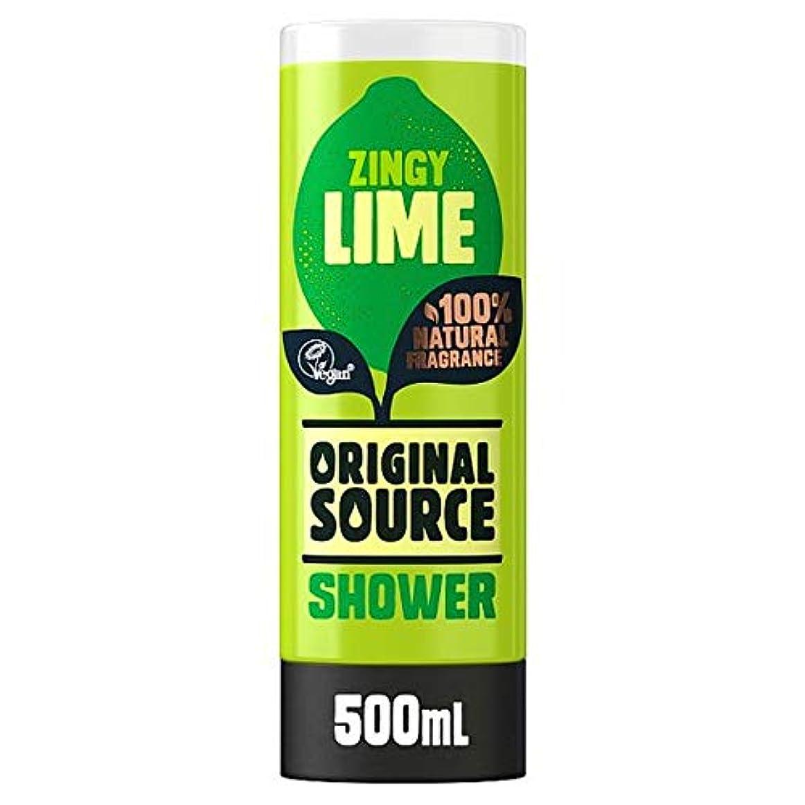 怒り結果森[Original Source ] 元のソースライムシャワージェル500ミリリットル - Original Source Lime Shower Gel 500Ml [並行輸入品]