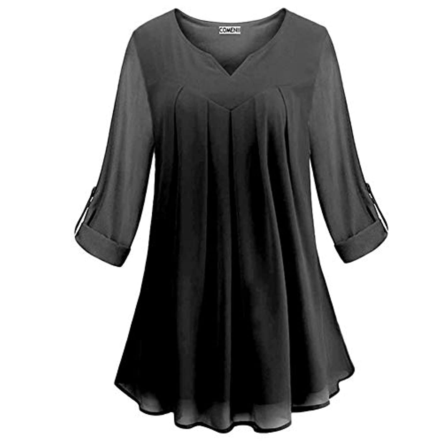 用心する分布肉腫MIFAN の女性のドレスカジュアルな不規則なドレスルースサマービーチTシャツドレス