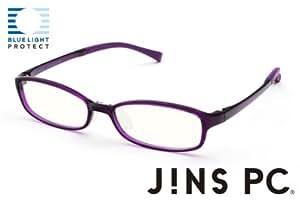 【JINS PC スクエア クリアレンズ】PC(ディスプレイ)専用メガネ (度なし) (PURPLE)