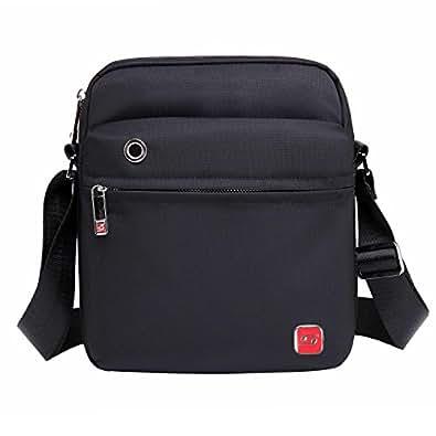 Soarpop ショルダーバッグ コンパクト iPad収納可 高収納力 通勤 ビジネス カジュアル アウトドア 旅行 ブラック