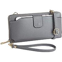 Womens Wristlet Wallet Crossbody Bag Cellphone Purse Handbag RFID Card Slots 2 Strap Wrist