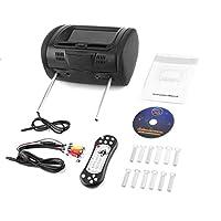 """ユニバーサル7"""" ヘッドレストカーDVDプレーヤー黒い車のDVD/USB/HDMIカーヘッドレストは、ゲームディスク内のスピーカーのモニター"""