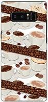 全面ガラスフィルム付 ギャラクシー ノートエイト [sc-01k scv37] galaxy note8 TPU ソフトケース コーヒーとコーヒー豆 docomo au スマホケース ドコモ エーユー スマホカバー デザインケース