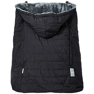 ベビーホッパー(BABYHOPPER) 抱っこひも 防寒 カバー 軽量 エルゴ ウインターマルチプルカバー/ブラック はっ水 ベビーカーでも使える CKBH04011