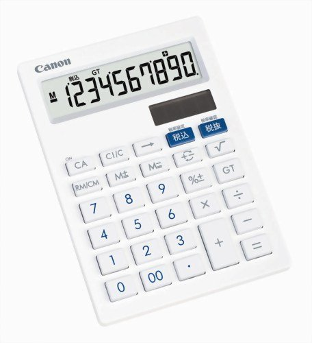 キヤノン 10桁ミニ卓上電卓 LS-101T 抗菌仕様  フラットデザイン