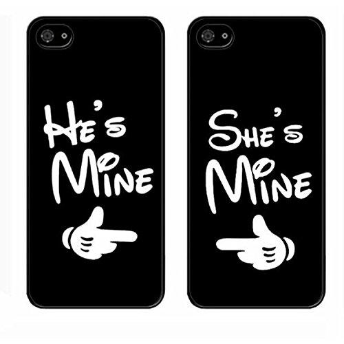 yougheny iphone 7専用 つや消し カップルケース バックカバー おもしろ 顔文字 男性向け 女性向け かわいい スマホケース 耐衝撃 ハードケース スマホカバー アイフォン ケース (He+She)