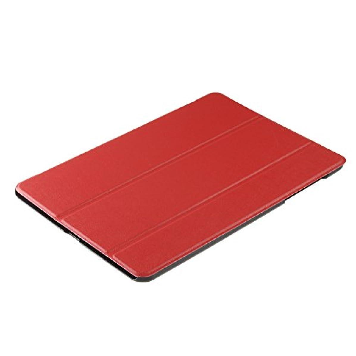 拡声器拍手中世のMY WAY スマートデザインケース ASUS ZenPad 3S 10 Z500M オートスリープ スタンドカバー レッド 572197