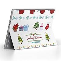 Surface go 専用スキンシール サーフェス go ノートブック ノートパソコン カバー ケース フィルム ステッカー アクセサリー 保護 クリスマス ツリー 飾り 013796