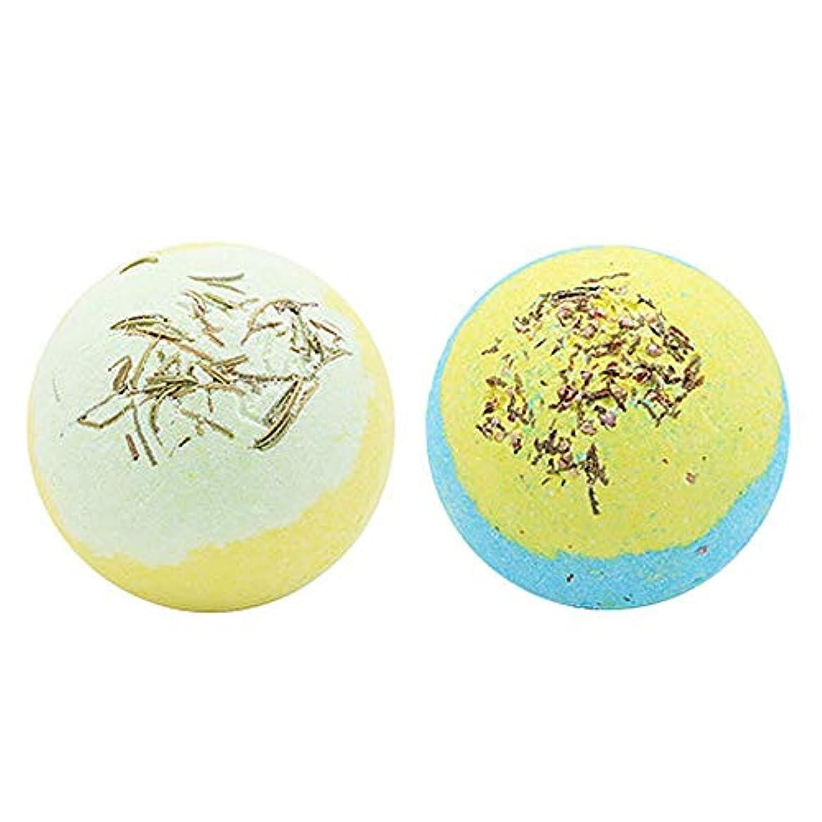 馬鹿ここに章女性の女の子のための2PCSドライフラワーナチュラルSPAバス塩爆弾ボールは、乾燥肌ストレス緩和軟化ケラチンローズマリー+ストロベリースタイルB