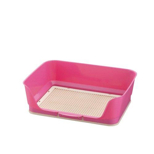 リッチェル しつけ用ステップ壁付きトイレ ワイド ピンク