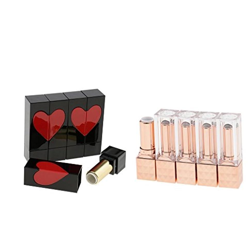 10ピースパックプラスチック化粧品化粧品diy 12.1ミリメートル口紅リップバーム空容器スクエアチューブ付き蓋キャップ