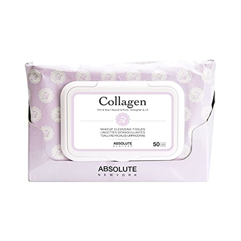 (3 Pack) ABSOLUTE Makeup Cleansing Tissue 50CT - Collagen (並行輸入品)