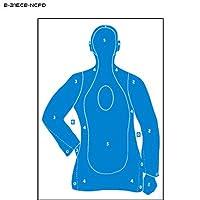 """b-21e段ボールターゲット(ナッソーCo。PD) Plus 2.5"""" X 4。5"""" Upper個付き楕円形23"""" x 35""""ブルー"""
