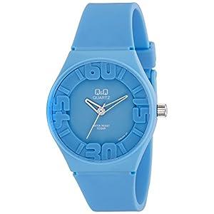 [シチズン キューアンドキュー]CITIZEN Q&Q 腕時計 アナログ 10気圧防水 ウレタンバンド 逆輸入 海外モデル ブルー VR36J003