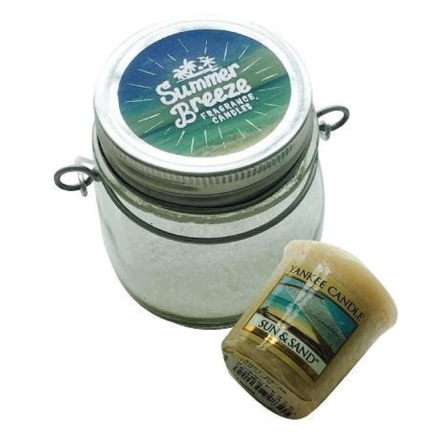 ねばねば植生水分カメヤマキャンドル(kameyama candle) サマーブリーズジャーキャンドルセット 「 サン&サンド 」