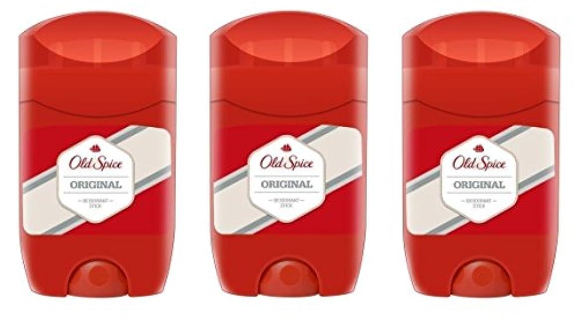 消化器費やす許さない(Pack of 3) Old Spice Original Deodorant Solid Stick for Men 3x50ml - (3パック)オールドスパイスオリジナルデオドラントソリッドスティック男性用3x50ml