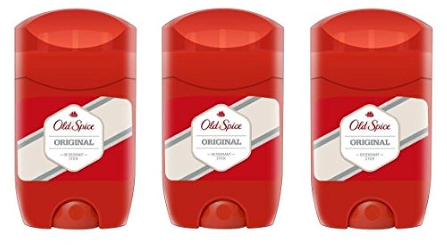 キャンプルネッサンスブリード(Pack of 3) Old Spice Original Deodorant Solid Stick for Men 3x50ml - (3パック)オールドスパイスオリジナルデオドラントソリッドスティック男性用3x50ml