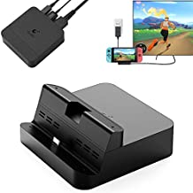 GuliKit Switch Docking Station, Portable TV Dock for Nintendo Switch with USB-C PD Charging Stand, HDMI Adapter and USB 3.0 Port, Support Samsung DeX Mode/ Huawei PC Mode
