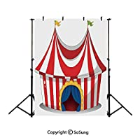 2x3m 夏のビーチの背景 サーカスの装飾、赤白海 背景幕 空 撮影用背景布 小さい新鮮な 写真撮影用の背景幕 撮影補助用品 写真スタジオ 装飾用 カスタマイズ可能様々な背景