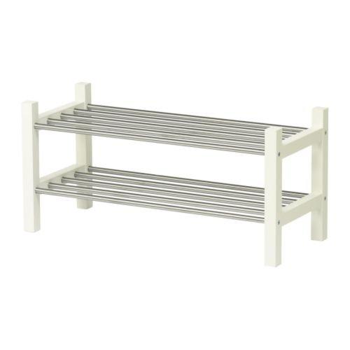 IKEA TJUSIGシューズラック ホワイト