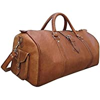 �� Sale! KC Handmade Pure Leather Luggage Duffel Travel Gym Overnight Weekend Leather Bag Classic Handmade Eco-Friendly Bag | Vintage Duffel Hand Luggage | with Free Shipping | Stock Limited