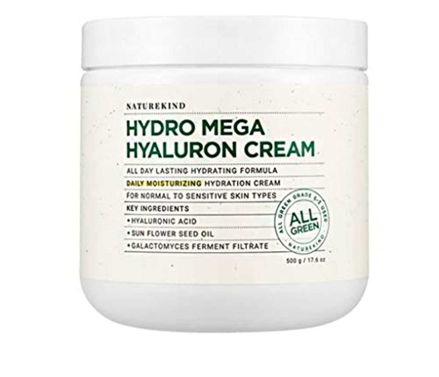 必要ない制裁適合するNATUREKIND HYALURON MEGA HYALURON CREAM ネイチャーカインドヒアルロン高濃縮水分保湿クリーム大容量500g(並行輸入品)