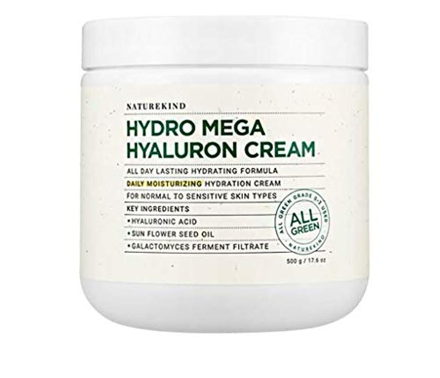 賞賛テメリティ公式NATUREKIND HYALURON MEGA HYALURON CREAM ネイチャーカインドヒアルロン高濃縮水分保湿クリーム大容量500g(並行輸入品)