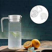 水差し、赤ワイン、ワイン、ジュース、牛乳、氷冷水などのためのふたの水差しのやかんが付いているアクリルの透明なジュースの瓶のアイスコールドジュースのデカンタ(800ml)