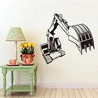 Ansyny クレーンビニールウォールステッカー家の装飾用リビングルームリムーバブル接着剤壁紙子供部屋壁デカール59 * 62センチ
